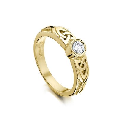DR80 - Sheila Fleet Celtic Ring - Diamond