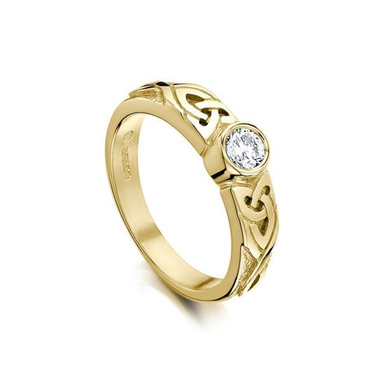 DR80 - Sheila Fleet Celtic Ring - Diamond