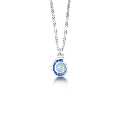 Sheila Fleet - EPX79 Skara Spiral Pendant (enamel colour shown in Glacier)