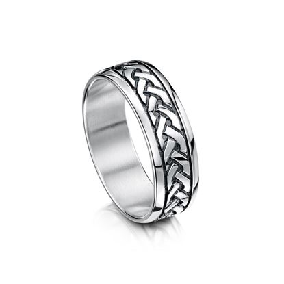 Sheila Fleet Celtic Ring - R29 - Silver