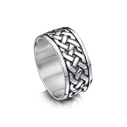 Sheila Fleet Celtic Ring - RX29 - Silver