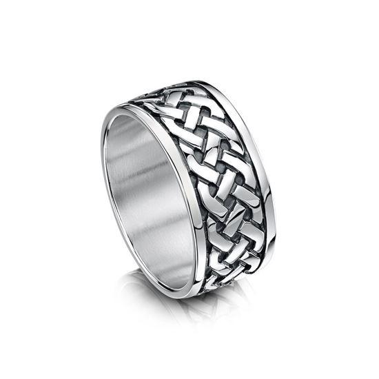 Sheila Fleet Celtic Ring - RX29 - Silver