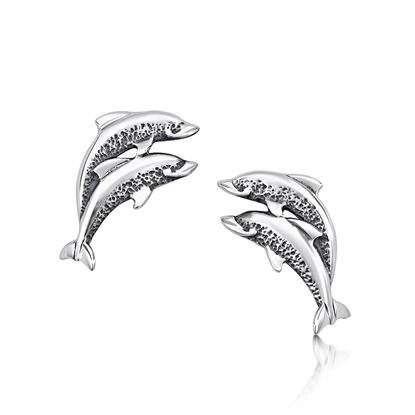 Sheila Fleet - E10 Dolphin Earrings