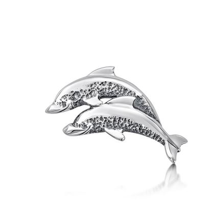 Sheila Fleet - LP10 Dolphin Lapel Pin - Head Shown