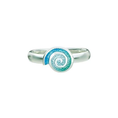 Sheila Fleet - ERX79 Skara Spiral Ring (enamel shown in Shallows)
