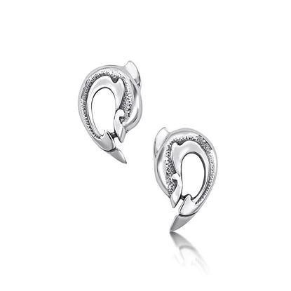 Sheila Fleet - E06 Dolphin Earrings