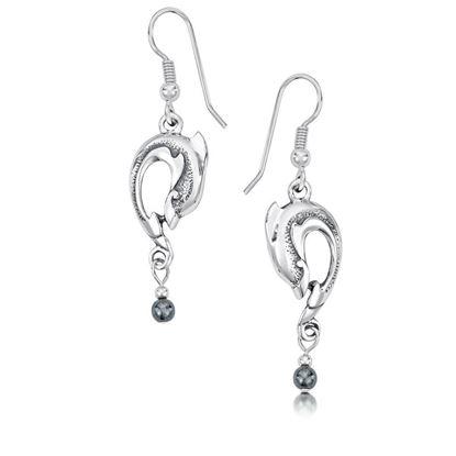 Sheila Fleet - SE6 Dolphin Earrings