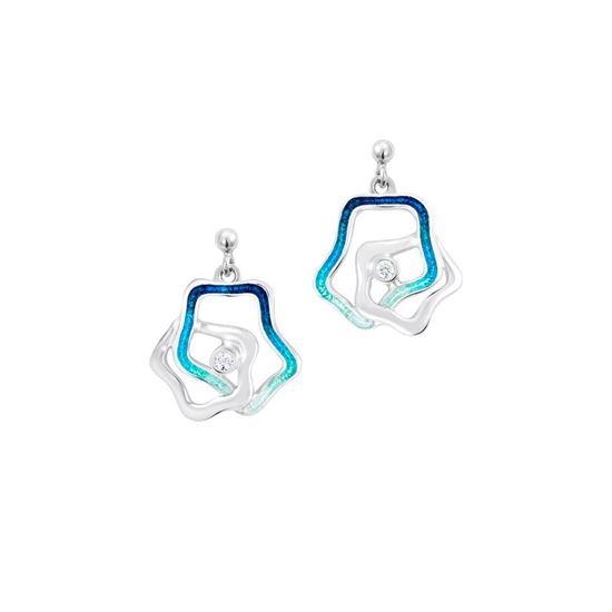 Sheila Fleet - ESE0195 Tidal Islands Earrings - Peacock