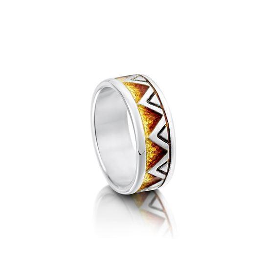 Sheila Fleet - R75 Skara Shard Ring (enamel shown in Fire)