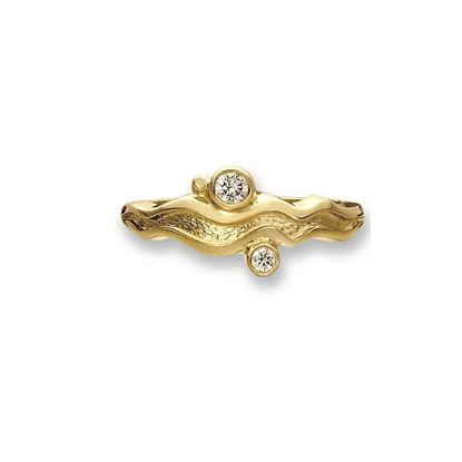 Sheila Fleet - SR88 River Ripples Ring - 9ct Yellow Gold