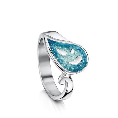Sheila Fleet - ERX126 Paisley Leaf Ring