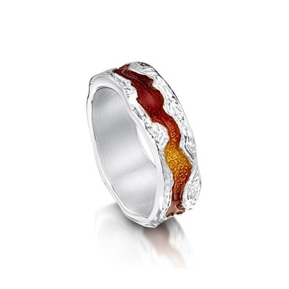 Sheila Fleet - ER218 Lava Stream Ring - Fire