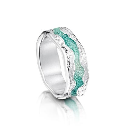 Sheila Fleet - ER218 Lava Stream Ring - Surf