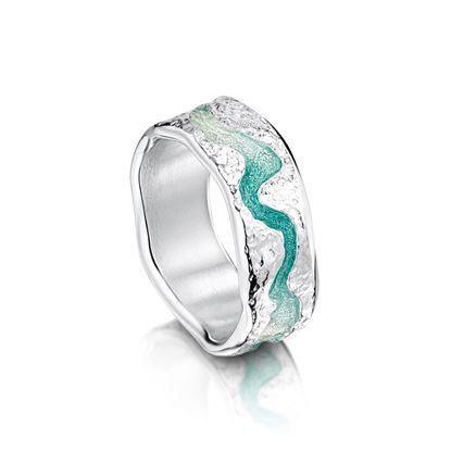 Sheila Fleet - ERX218 Lava Stream Ring - Surf
