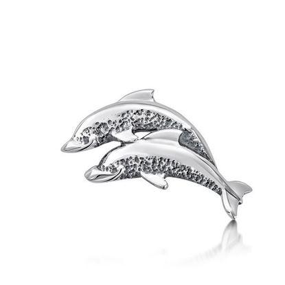 Sheila Fleet - T10 Dolphin Tie Tack (Head Shown)