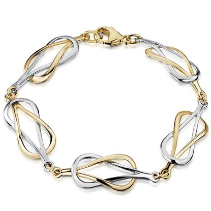 Sheila Fleet - WYBLX28 Reef Knot Bracelet (shown here in 9ct Yellow & White Gold)