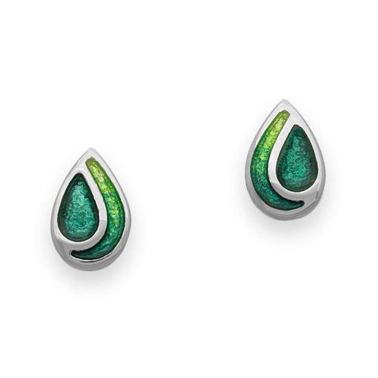 Ortak - EE351 Cedar Earrings (enamel shown in Prairie/Emerald Green)