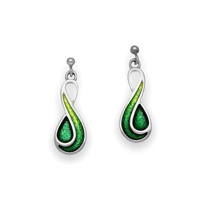 Ortak - EE350 Cedar Earrings (enamel shown is Tropical/Emerald Green)
