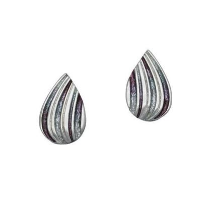 Ortak - EE433 Honeycomb Earrings  (colour shown is Mistral)