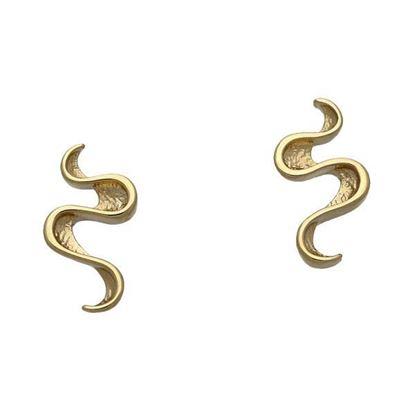 Ortak - GE1755 Mirran Ripples Earrings (9ct Yellow Gold)
