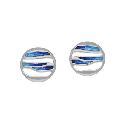 Ortak - EE342 Orbit Earrings (enamel colour shown in Oasis)