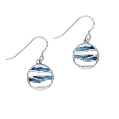 Ortak - EE343 Orbit Earrings (enamel colour shown in Oasis)