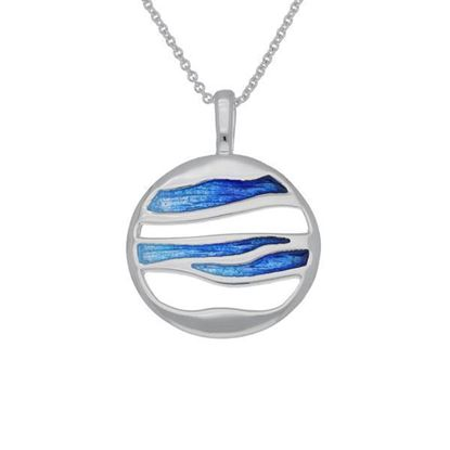 Ortak - EP251 Orbit Pendant (enamel colour shown in Oasis)