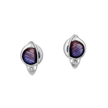 Ortak - ECE12 Orbit Earrings (enamel colour shown in Sirocco)