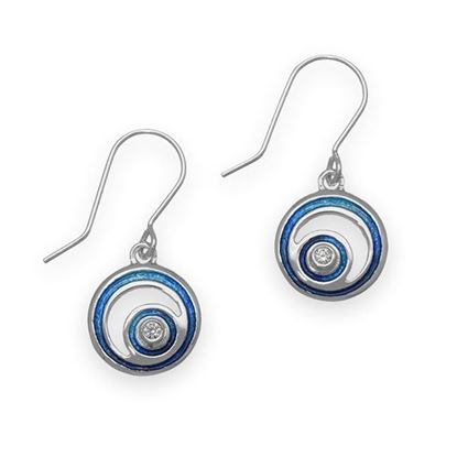 Ortak - ECE13 Orbit Earrings (enamel shown in Midnight Sapphire)