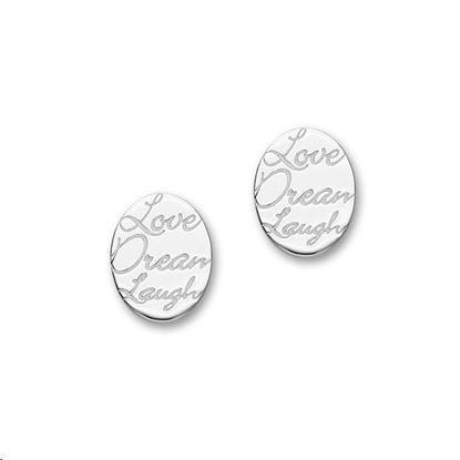 Ortak - E1466 Script Earrings