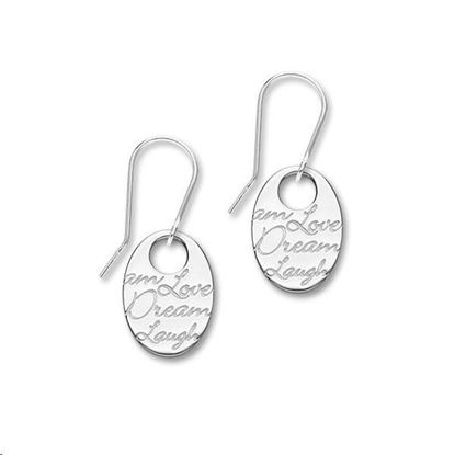 Ortak - E1469 Script Earrings
