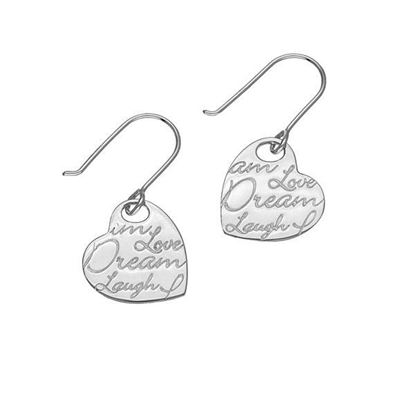 Ortak - E1471 Script Earrings