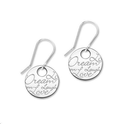 Ortak - E1470 Script Earrings