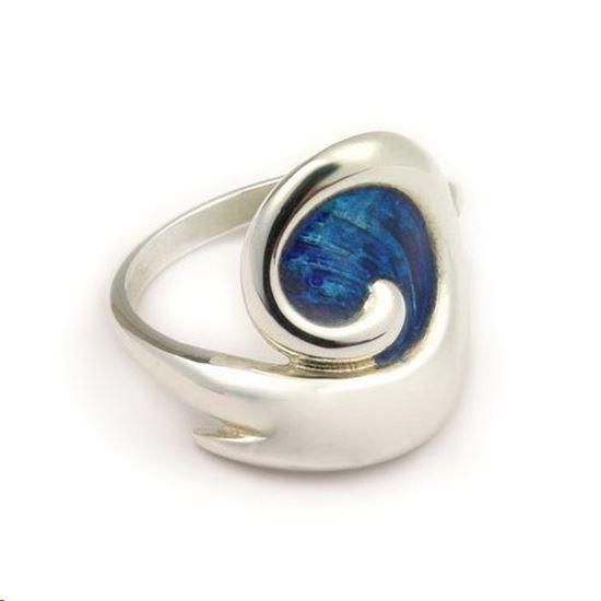 Ortak - ER87 Simply Stylish Ring (Kingfisher enamel shown)