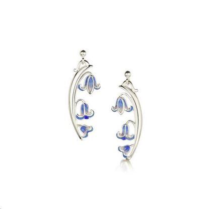 Sheila Fleet - EE243 Bluebell Earrings (colour shown is Bluebells)