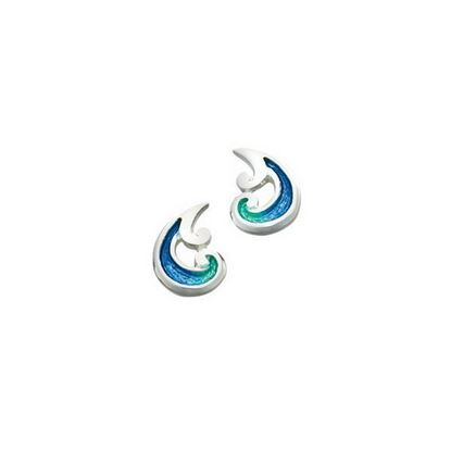 Sheila Fleet - EE0055 Bow Waves Earrings (colour shown is Bow Waves)