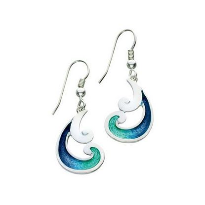 Sheila Fleet - EE55 Bow Waves Earrings (colour shown is Bow Waves)