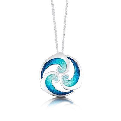 Sheila Fleet - EPX146 Breckon Pendant (colour shown is Peacock)