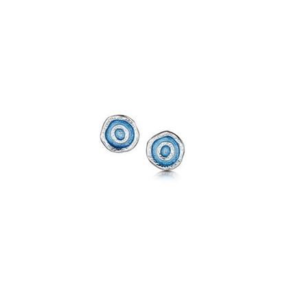 Sheila Fleet - EE0247 Brodgar Eye Earrings (colour shown is Misty Blue)