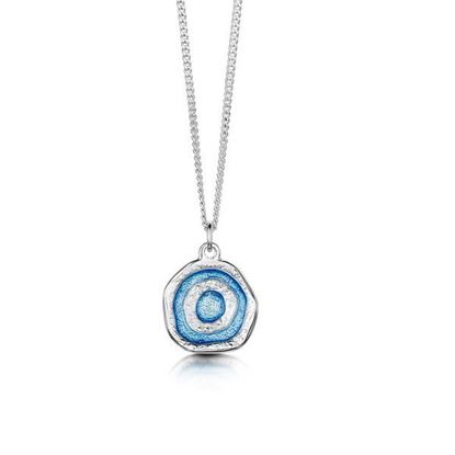 Sheila Fleet - EP247 Brodgar Eye Pendant (colour shown is Misty Blue)