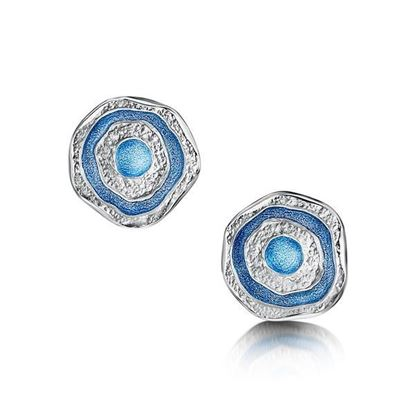 Sheila Fleet - EE247 Brodgar Eye Earrings (colour shown is Misty Blue)