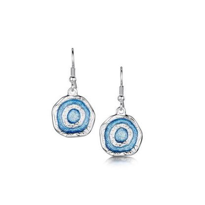 Sheila Fleet - EEX247 Brodgar Eye Earrings (colour shown is Misty Blue)