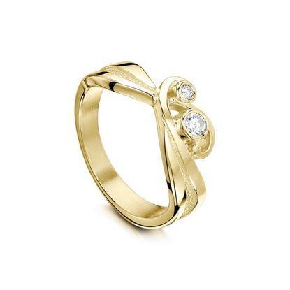 Sheila Fleet - DR71 Contemporary Diamonds Ring - 9YG