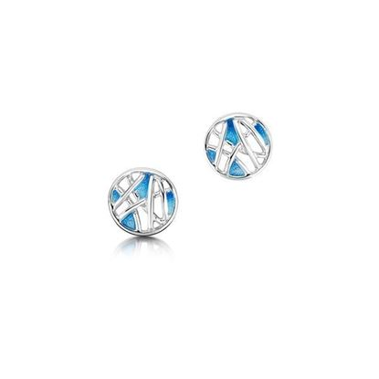 Sheila Fleet - EE0211 Creel Earrings (enamel colour shown in Pentland)