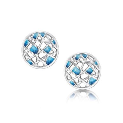 Sheila Fleet - EEX211 Creel Earrings (enamel colour shown in Pentland)