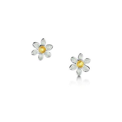 Sheila Fleet - EE0235 Daisies Earrings (enamel colour shown - Sunshine)