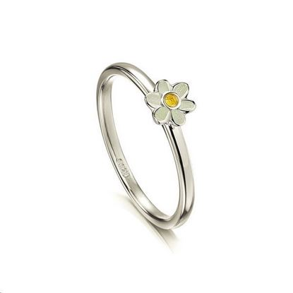 Sheila Fleet - ER0236 Daisies Ring (enamel colour shown - Sunshine)