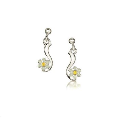 Sheila Fleet - EE236 Daisies Earrings (enamel colour shown - Sunshine)