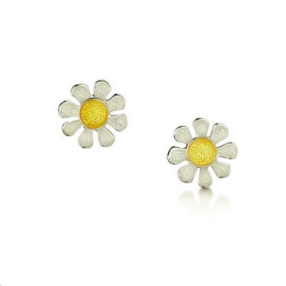 Sheila Fleet - EE0234 Daisies Earrings (enamel colour shown - Sunshine)