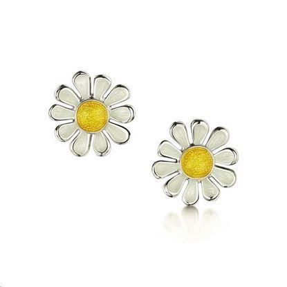 Sheila Fleet - EE234 Daisies at Dawn Earrings (enamel colour shown - Sunshine)